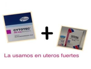 Aborto con cytotec + oxitocina