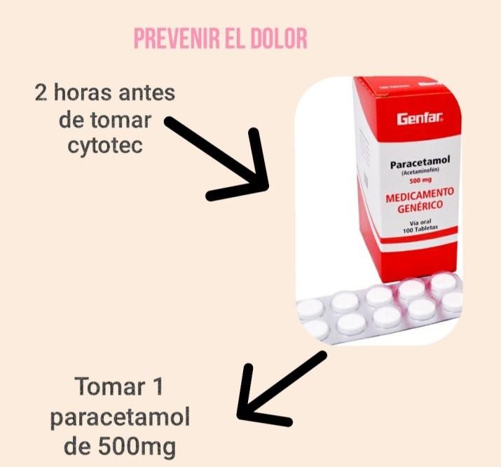 Paracetamol para el dolor